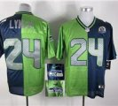 Nike Seahawks #24 Marshawn Lynch With Hall of Fame 50th Patch NFL Elite Jersey