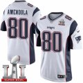 Youth Nike New England Patriots #80 Danny Amendola Elite White Super Bowl LI 51 NFL Jersey