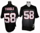 Altanta Falcons #58 Jessie Tuggle Throwback Jerseys black
