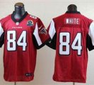 Nike Falcons #84 Roddy White Red With Hall of Fame 50th Patch NFL Elite Jersey