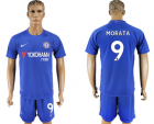 2017-18 Chelsea 9 MORATA Home Soccer Jersey