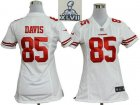2013 Super Bowl XLVII Women NEW San Francisco 49ers 85 Vernon Davis White[Women NEW]