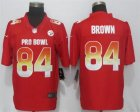 Nike AFC Steelers #84 Antonio Brown Red 2019 Pro Bowl Limited Jersey