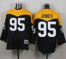 Mitchell And Ness 1967 Pittsburgh Steelers #95 Jarvis Jones Black Yelllow Throwback Men Stitched NFL Jersey