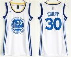 Warriors #30 Stephen Curry White Women Swingman Jersey