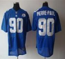 Nike Giants #90 Jason Pierre-Paul Royal With Hall of Fame 50th Patch NFL Elite Jersey