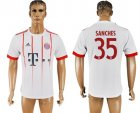 2017-18 Bayern Munich 35 SANCHES UEFA Champions League Away Thailand Soccer Jersey