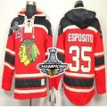 nhl jerseys chicago blackhawks #35 esposito red[pullover hooded sweatshirt][2013 Stanley cup champions]