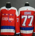 Capitals #77 T.J. Oshie Red Breakaway Adidas Jersey