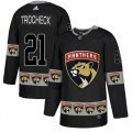 Panthers #21 Vincent Trocheck Black Team Logos Fashion Adidas Jersey