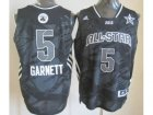 2013 nba all star boston celtics #5 garnett grey jerseys