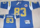 nfl San Diego Chargers #83 Jefferson Throwback lt,blue