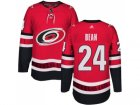 Men Adidas Carolina Hurricanes #24 Jake Bean Authentic Red Home NHL Jersey