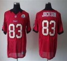 Nike Buccaneers #83 Vincent Jackson Red With Hall of Fame 50th Patch NFL Elite Jersey