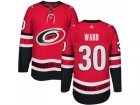 Men Adidas Carolina Hurricanes #30 Cam Ward Authentic Red Home NHL Jersey
