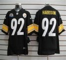 Nike Steelers #92 James Harrison Black With Hall of Fame 50th Patch NFL Elite Jersey
