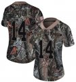 Nike Broncos #14 Courtland Sutton Camo Women Rush Limited Jersey