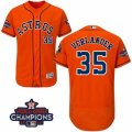 Astros #35 Justin Verlander Orange Flexbase Authentic Collection 2017 World Series Champions Stitched MLB Jersey