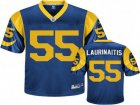 nfl St. Louis Rams #55 James Laurinaitis throwback Blue