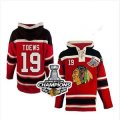 nhl jerseys chicago blackhawks #19 toews red[pullover hooded sweatshirt][2013 stanley cup][2013 Stanley cup champions]