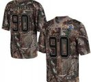 Nike Bears #90 Julius Peppers Camo With Hall of Fame 50th Patch NFL Elite Jersey