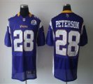 Nike Vikings #28 Adrian Peterson Purple With Hall of Fame 50th Patch NFL Elite Jersey