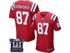 Mens Nike New England Patriots #87 Rob Gronkowski Elite Red Alternate Super Bowl LI Champions NFL Jersey