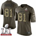 Youth Nike New England Patriots #81 Clay Harbor Limited Green Salute to Service Super Bowl LI 51 NFL Jersey