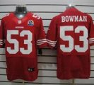 Nike 49ers #53 NaVorro Bowman Red With Hall of Fame 50th Patch NFL Elite Jersey