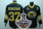 nhl boston bruins #37 bergeron black 3rd[2011 stanley cup champi