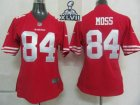 2013 Super Bowl XLVII Women NEW San Francisco 49ers 84 Moss Red Jerseys