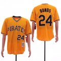 Pirates #24 Barry Bonds Orange Cooperstown Collection Jersey