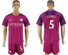 2017-18 Manchester City 5 STONES Away Soccer Jersey