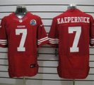 Nike 49ers #7 Colin Kaepernick Red With Hall of Fame 50th Patch NFL Elite Jersey