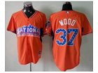 mlb 2013 all star jerseys chicago cubs #37 wood orange