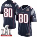 Youth Nike New England Patriots #80 Danny Amendola Elite Navy Blue Team Color Super Bowl LI 51 NFL Jersey