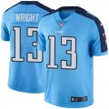 Youth Nike Tennessee Titans #13 Kendall Wright Light Blue Stitched NFL Limited Rush Jersey