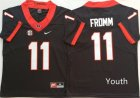 Georgia Bulldogs #11 Jake Fromm Black Youth Nike College Football Jersey