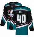 Mens Adidas Anaheim Ducks #40 Jared Boll Authentic Black Teal Third NHL Jersey