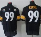 Nike Steelers #99 Brett Keisel Black With Hall of Fame 50th Patch NFL Elite Jersey