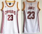 Cavaliers #23 Lebron James White Women Swingman Jersey