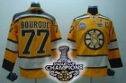 nhl boston bruins #77 bourque yellow(C)[2011 stanley cup champio