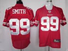nfl san francisco 49ers #99 smith red