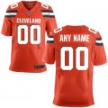 Men Cleveland Browns Nike Orange Custom Alternate Elite Jersey