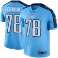 Youth Nike Tennessee Titans #78 Jack Conklin Light Blue Stitched NFL Limited Rush Jersey