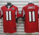 Nike Falcons #11 Julio Jones Red With Hall of Fame 50th Patch NFL Elite Jersey