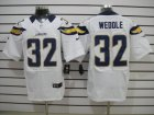 NEW NFL San Diego Chargers #32 Weddle White Jerseys(Elite)