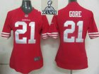 2013 Super Bowl XLVII Women NEW San Francisco 49ers 21 Gore Red jerseys