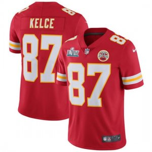 Nike Chiefs #87 Travis Kelce Red 2020 Super Bowl LIV Vapor Untouchable Limited