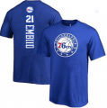 Mens Philadelphia 76ers #21 EMBID T-SHIRT blue JERSEYS